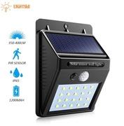 lights4u led light solar cell โคมไฟโซล่าเซล POWERED ตรวจจับความเคลื่อนไหว เปิด/ปิดไฟอัตโนมัติ ชาร์จไฟด้วยพลังงานแสงอาทิตย์ รุ่นใหม่ 20 LED 30 LED สว่างเห็นชัด กันน้ำได้ ทนความร้อน ของแท้