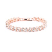 Women Full Rhinestone Crystal Alloy Bracelet Ladies Decor Exquisite Hand Chain Jewellery