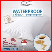 2PCS PER SET Waterproof Pillow Case Protector with zip / Protective Cover