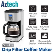 Aztech Silvertone Drip Filter Coffee Maker (AFC6600)