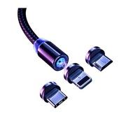 สายชาร์จแม่เหล็ก Micro-USB/Type-C/Lightning to USB แบบชาร์จไว
