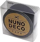 KAWAGUCHI(カワグチ) NUNO DECO TAPE ヌノデコテープ 1.5cm幅 1.2m巻 まっくろ 15-227