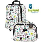 BagsMarket Luggage 16/12 นิ้ว Romar Polo กระเป๋าเดินทางเซ็ทคู่ ระบบรหัสล๊อค ลิขสิทธิ์ของแท้  รุ่น R13516 Little Rabbit White