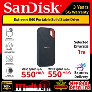 SanDisk Extreme E60 Portable SSD Read Speed 550MB/s Write Speed 550MB/s 250GB 500GB 1TB 2TB E60 3PM.SG 12BUY.SG 3 Years SG Warranty Express Door Delivery 3 to 7 Days