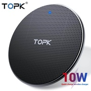 TOPK B01W Wireless Charger for iPhone Xs Max X 8 Plus 10W Fast Charging Pad for Samsung Note 9 Note 8 S10 Plus