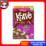 Kellogg's, Krave Breakfast Cereal, Double Chocolate, Family Size, 473g