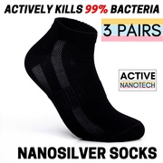3 PAIRS** Men Nanosilver Anti Bacterial Ankle Socks Premium Selection Einashop