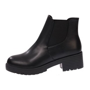 Ankle Boots Pull-on low-heeled Rounded Toe Bootie Martin Boots