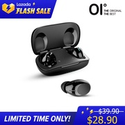 【New】OI Teno-SIX True Wireless Earbuds Bluetooth 5.0 Red Dot Design Award 8H Playback&Fast Charging One-Step Pairing Touch Sensor with Volume Control Noise Cancellation Deep Bass with IPX7 Waterproof—Black and White