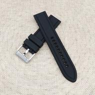 FOSSIL富思錶帶黑色硅膠錶帶22MM腕錶