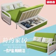 Small-sized Fabric Washable Sofa Bed Room Storage Folding Sofa Multi-function Dual-use Storage Single Double Bed