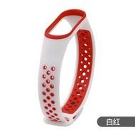 適用小米手環4腕帶運動防丟替換錶帶圓點雙色小米手環3代環保TPU