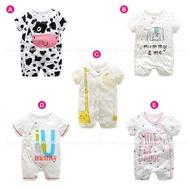 短袖嬰兒連身衣 乳牛大象長頸鹿春夏兔裝 寶寶童裝 LZ22334 好娃娃