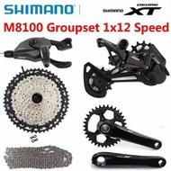 SHIMANO DEORE XT M8100 Groupset 32T 34T 36T 170 175 Crankset Mountain Bike Groupset 1x12-Speed 10-51T M8100