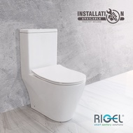 [BULKY] RIGEL GALLANT SERIES RL-WO9030FA-HKM ONE-PIECE WATER CLOSET WITH OPTIONAL MANUAL/ELECTRONIC BIDET SEAT COVER