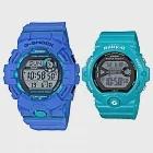 【CASIO】G-SHOCK X BABY-G 耐衝擊運動潮流雙人對錶 (GBD-800-2+BG-6903-2D)