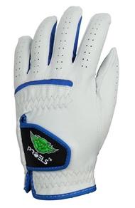 高爾夫手套小羊皮PROELS 100%特級小羊皮高爾夫球手套-男款-藍/白