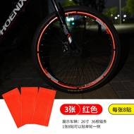 Bicycle Reflective Stickers Spoke Stickers Decorative Waterproof Mountain Bicycle Wheels Stickers Wheel Reflective Bicycle Fitting and Fixture