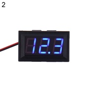 二線直流電壓表頭0.56寸LED數字電壓表DC5V-30V數顯電壓表汽車數字直流電壓表