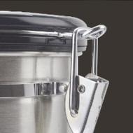 真空密封咖啡豆茶糖果甜糖香型日期顯示刻度盤單向排氣防潮存儲儲存容器密封容器(銀色,1500ml) 咖啡罐304不銹鋼2個/1組