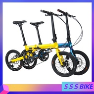 KOSDA KSD-3  Foldable Bicycle 16 Inch Ultra-light Aluminum Alloy Variable Speed 8-speed Bicycle Portable Adult General Outdoor Folding Bicycle Free installation