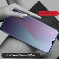 Matte Frosted Glass For OPPO F5 F7 F9 Pro R15 R17 Pro R15X Tempered Glass For A73 A77 A79 A83 No Fingerprints Screen Protector