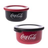 HOLA 可口可樂系列304不鏽鋼耐熱止滑隔熱保鮮碗-730+1200ml兩入組