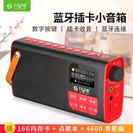 (實用好物)不見不散 LV580藍牙收音機音響便攜式插卡小音箱老人播放器隨身聽