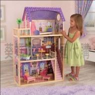 自取免運🇰🇷韓國境內版 Kidkraft 大型 木製 紫色 芭比娃娃屋 房子 娃娃屋 家家酒 玩具遊戲組❤