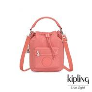 Kipling 粉嫩珊瑚橘都會多用途水桶手提側背包-VIOLET S