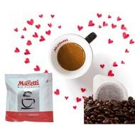 Caffe Musetti 15 pcs Easy Serve Espresso (ESE) pods Paradiso (Silver) 44 mm 85% Arabica Coffee Pods
