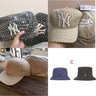 韓國限定 **現貨+預購**MLB 紐約洋基隊 NY滿版Logo 腰包/棒球帽/漁夫帽/拖鞋[FIFI SHOP]