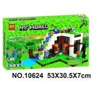 博樂10624 我的世界 瀑布基地 創世神 麥塊 安德 終界使者 殭屍 史帝夫 綿羊 貓 非樂高LEGO21134但相容
