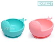 EXPECT-蝸牛矽膠吸盤碗(兩色)兒童碗 學習碗【米菲寶貝】