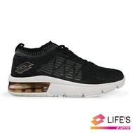 LOTTO樂得-義大利第一品牌 女款透涼飛織氣墊跑鞋 [0620] 黑【巷子屋】