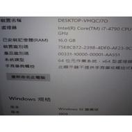 intel i7 4790 + 美光 ram 8g *2