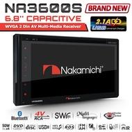 "NAKAMICHI หัวหน้าหน่วยสเตอริโอ NA3600S 6.8"" 2 DIN Bluetooth Dual USB Car Radio DVD Stereo Headunit"
