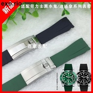 Watch With Rubber Watch Band For Rolex Black Ghost Submariner