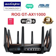 ASUS ROG Rapture GT-AX11000 Tri-band 802.11ax WiFi 6 Gaming Router - 3 Year Asus Singapore Warranty