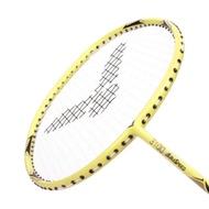 VICTOR 神速穿線拍-4U-羽毛球 羽球拍 訓練 勝利 ARS3100E-4U 馬卡龍黃