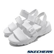 Skechers 涼拖鞋 D Lites 2 休閒 女鞋 鞋面可調 微增高 修飾腿型 夏日水鞋 白 111061WHT 111061WHT