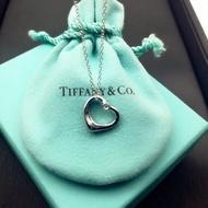 鑲鑽Tiffany & Co.經典心形項鍊 鑲鑽項鍊 純銀 聖誕節 情人節禮物 真品