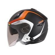 ZEUS 瑞獅 安全帽 ZS-612A 612A AD4 半罩式 安全帽 - 消黑/藍 消黑/橘 消鐵灰/銀