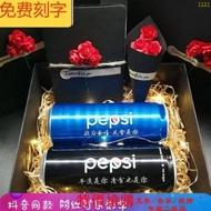 結婚神器印字生日情人表白老師可樂易拉罐裝刻字名字藍色禮。582578