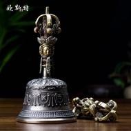 藏傳佛教用品 密宗供具尼泊爾手工銅五股金剛杵金剛鈴 金剛鈴杵