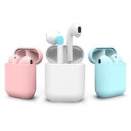 i12-Color 馬卡龍觸控式磁吸收納充電真無線藍牙耳機