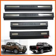 Best Saller (4ชิ้น) ชายบันไดสีดำด้าน นิสสัน นาวาร่า NP300 รุ่น 4 ประตู ปี 2014-2019 ชายบันไดประตู Nissan Navara สคัพเพลท ราคาถูก อะไหร่รถ ครอบไฟหน้า ถาดรองมือเปิดท้ายรถ กันสาดประตู ไฟหรี่กันชน