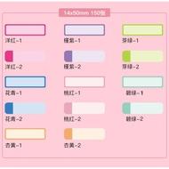繽紛上市~精臣D11/D61標籤機專用紙捲~分類多色貼