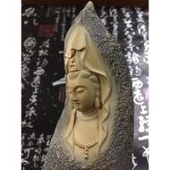 【琉璃花園】石雕一葉觀音  淨水觀音 樹酯  擺設 配件 匾額 風水擺設