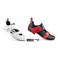 【三鐵共購】【荷蘭LAKE】TX223 WIDE 三鐵卡鞋-白色&黑紅色